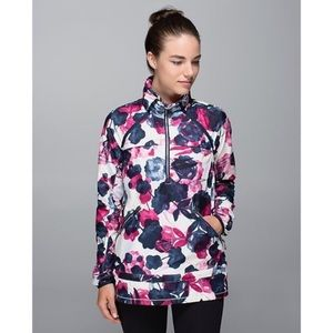 Lululemon miss misty floral hooded rain jacket
